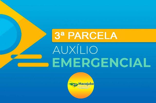 Calendário da terceira parcela do auxílio emergencial