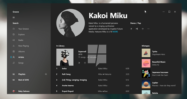 tampilan-groove-music-terbaru-windows-10