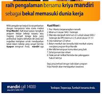 Daftar Lowongan Kerja Bank Mandiri Jombang Terbaru 2020