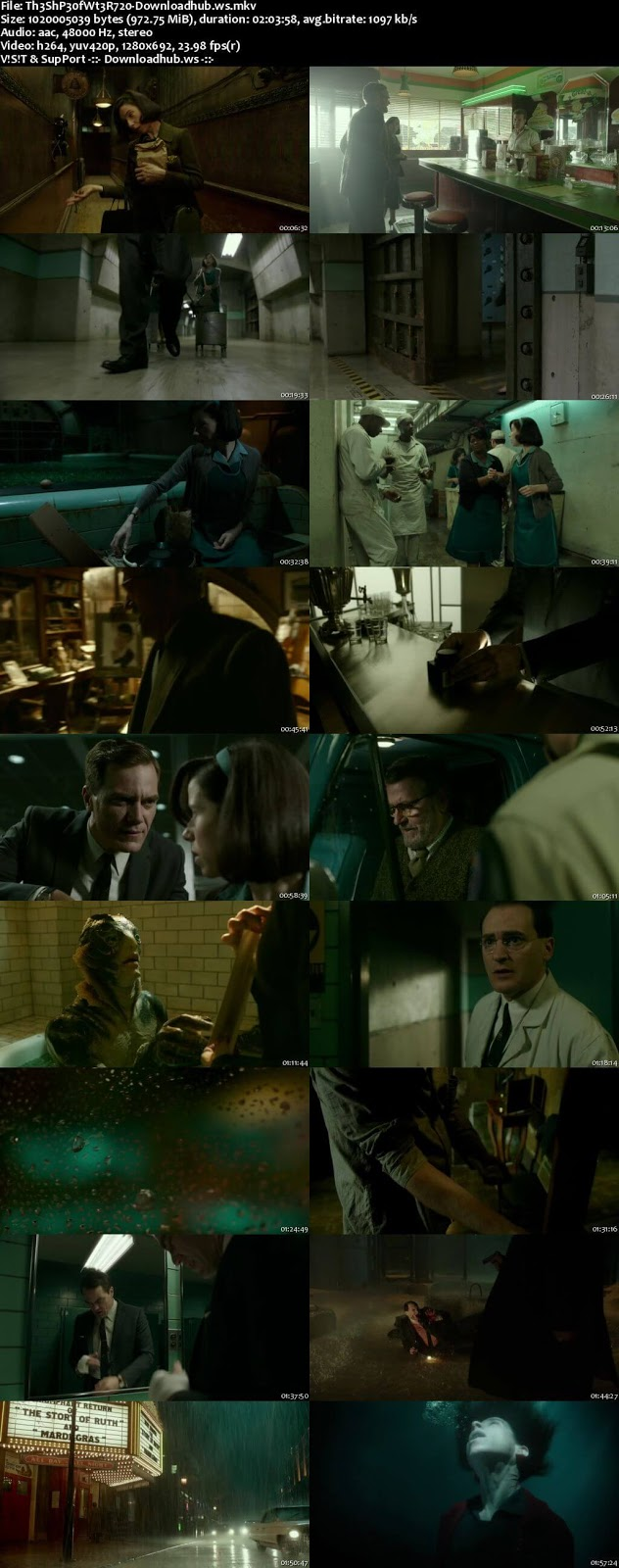 The Shape of Water 2017 English 720p Web-DL 950MB ESubs
