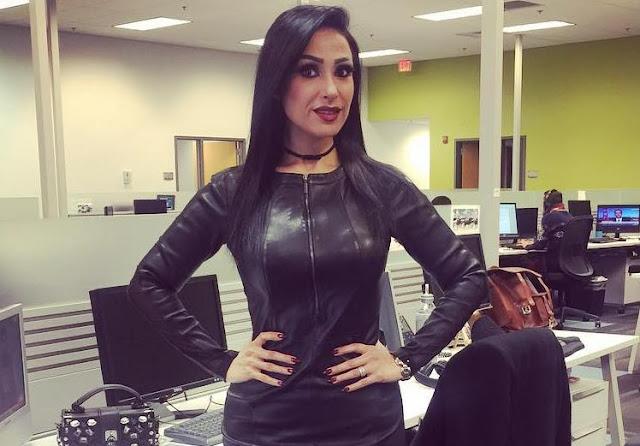 زينة الالوسي تخطف الأنظار بفستان أسود قصير