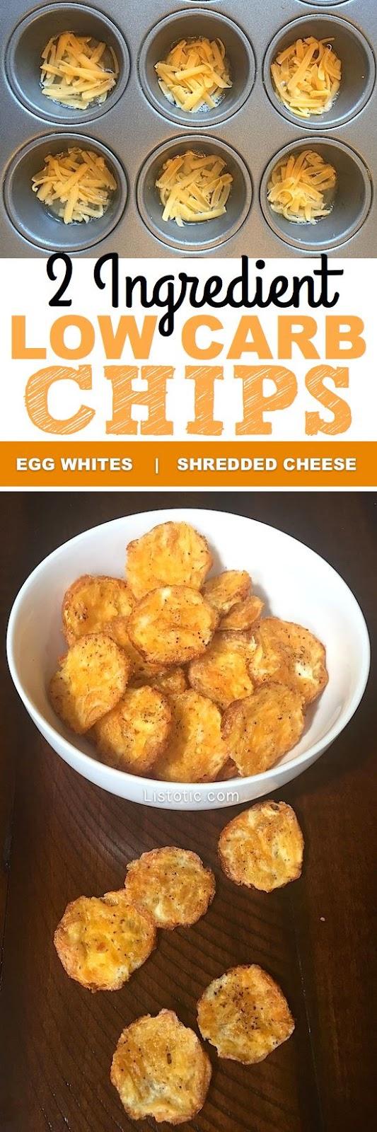 2 Ingredient Low Carb Chips