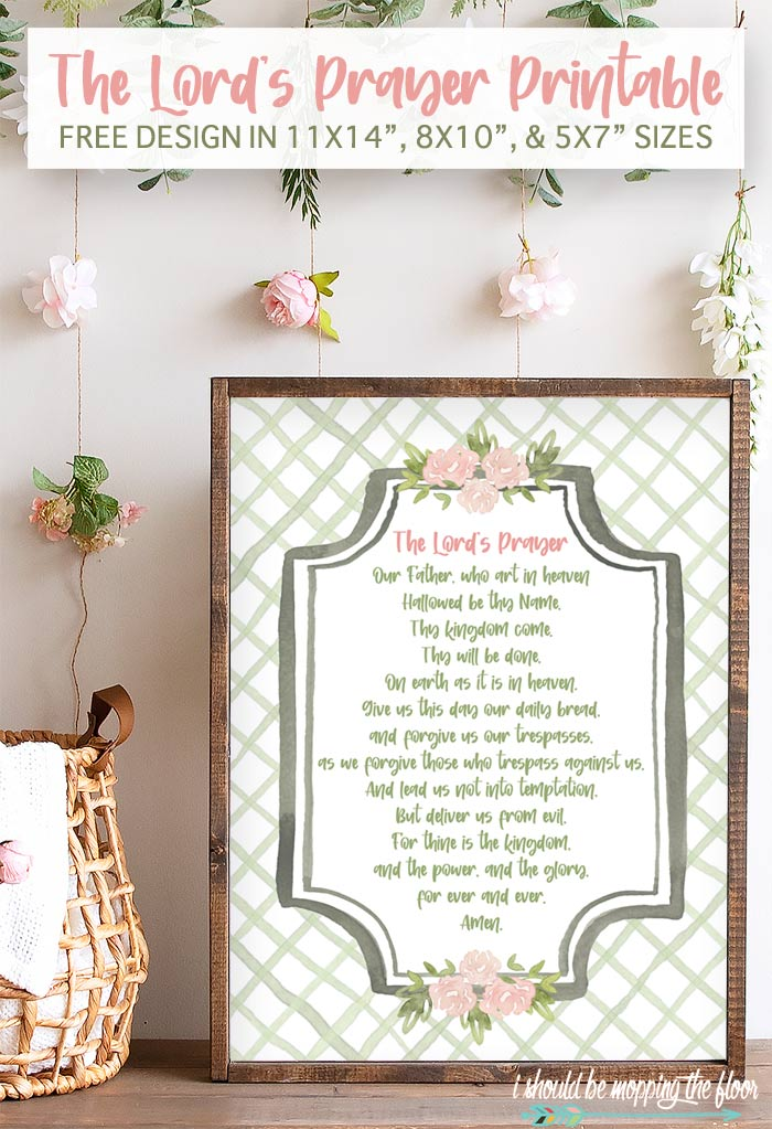 The Lord's Prayer Printable