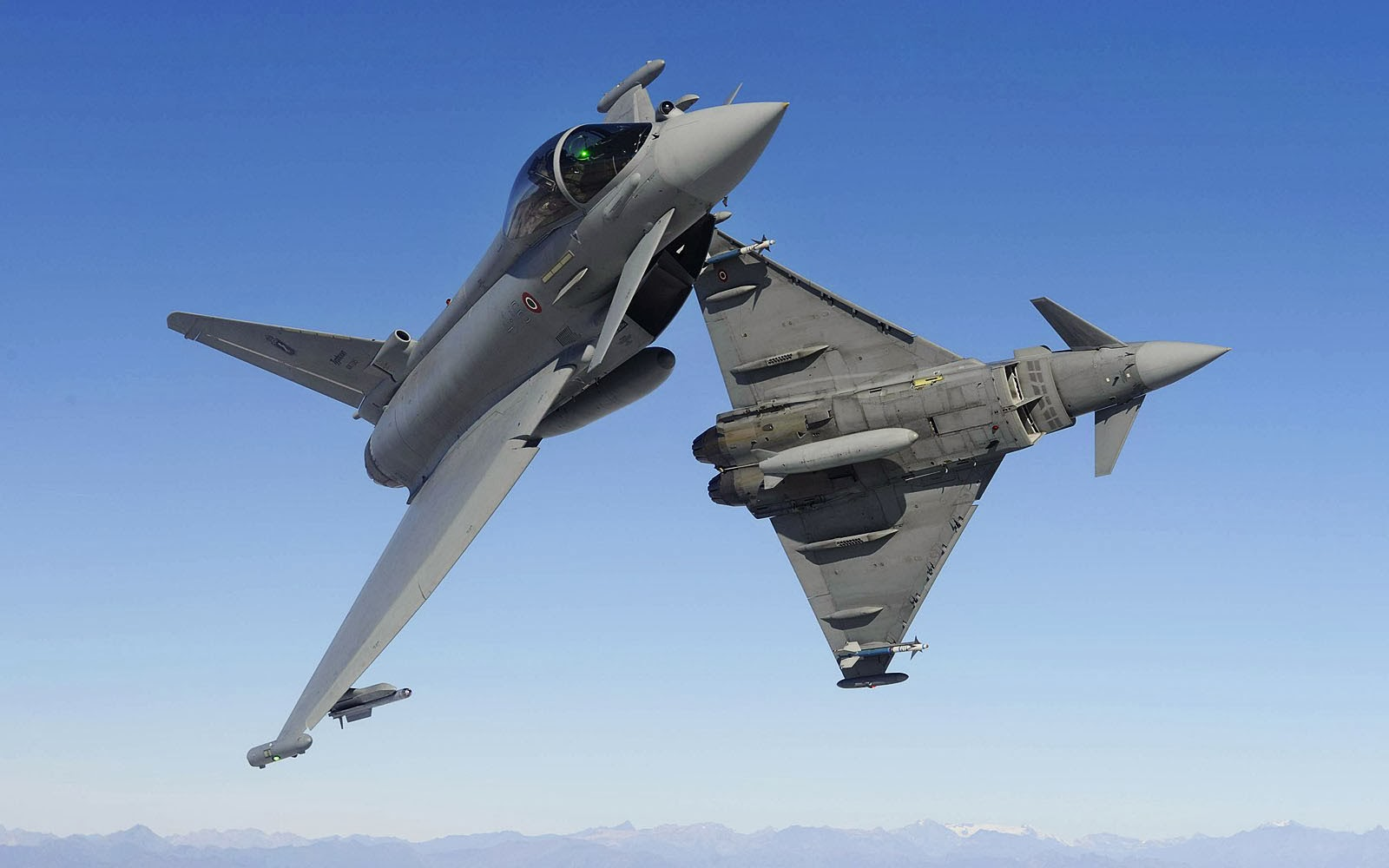 Aerei Da Caccia Tramonto : Wallpapers eurofighter typhoon