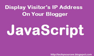 show blogger visitors their ip address