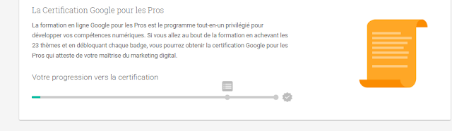 Google pro certificat en francais