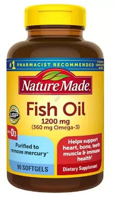 1-Nature Made Fish Oil 1,200 mg Plus Vitamin D 1,000 IU