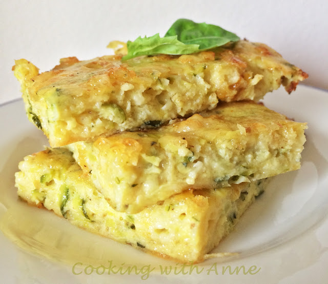 Zucchini-Cheese Squares