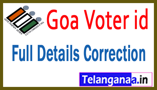 Goa Voter id Card Online Correction Full Details