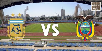 نتيجة المباراة المنتخبين الأرجنتين و الإكوادور في ( كوبا أمريكا ) 2021 ....