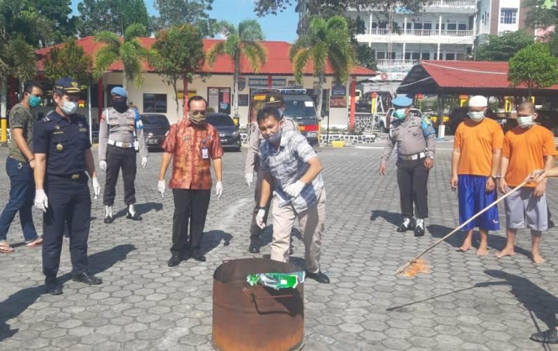 Polres Tanjungpinang Kembali Musnahkan Hampir 5 Kilogram Sabu Hasil Pengungkapan Tindak Pidana