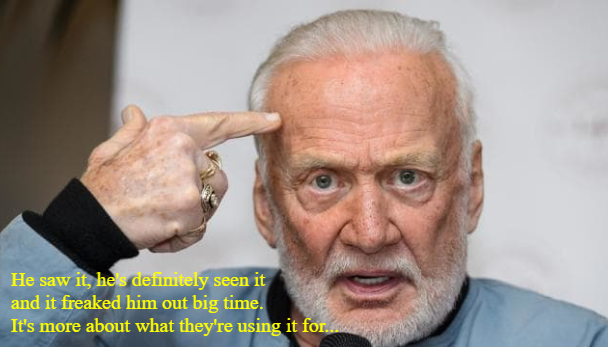 Buzz Aldrin saw something in Antarctica.
