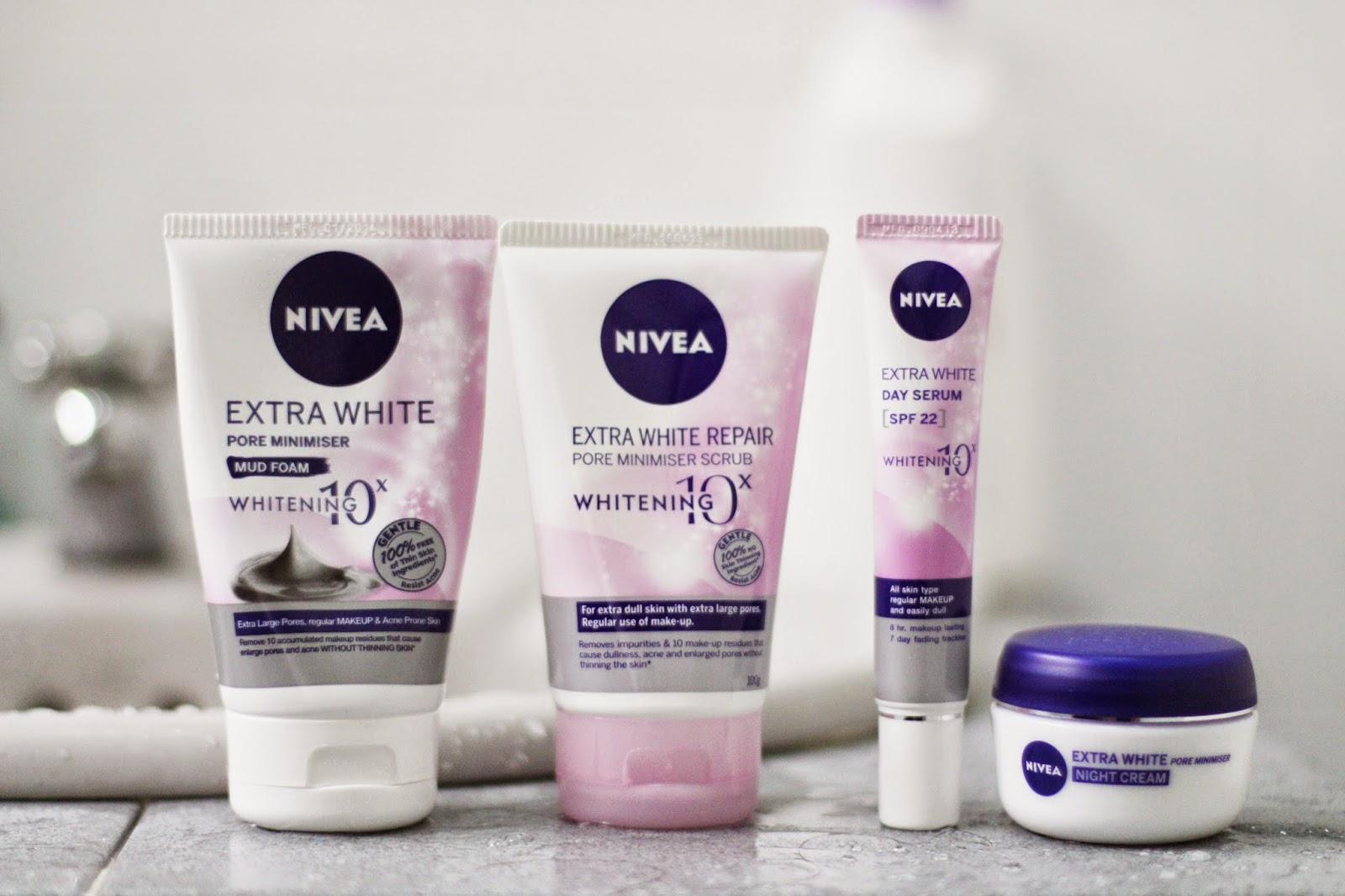 Eunice Annabel Nivea Extra White Pore Minimiser Range