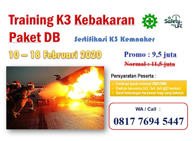 Training K3 Kebakaran Paket DB tgl. 10-18 Februari 2020 di Jakarta