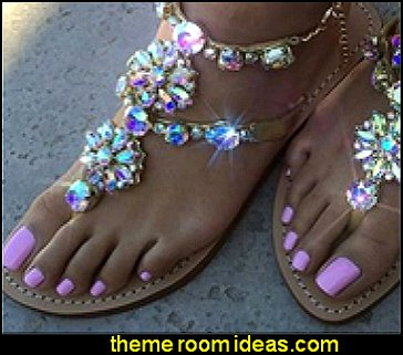 Rhinestones Chains Flat Sandals  toe nails fancy feet decals - nail art designs - decorate your toes - toenail designs - toenail decorations - fake nails for your toes - Foot Jewelry - Barefoot Sandals - ankle decorations - feet bling - feet jewelry for the beach - Rhinestone Toe Ring  - Beach Wedding Jewelry Anklet