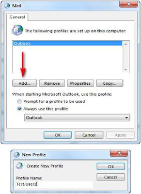 Procedure to configure Microsoft Outlook Client
