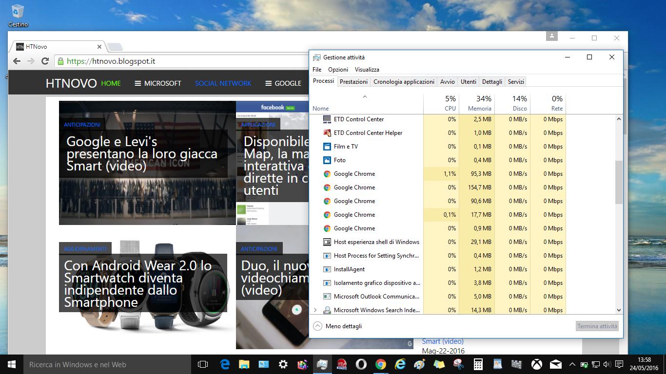 Come diminuire l'utilizzo RAM di Google Chrome includendo più schede in un unico processo