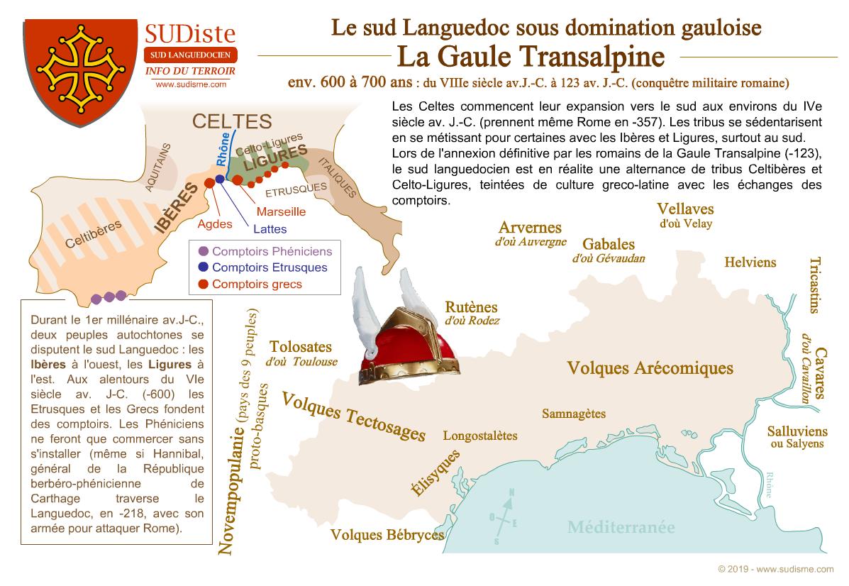 Gaule Transalpine et le Languedoc