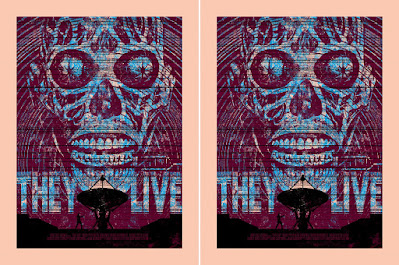 They Live Color Variant Screen Print by Chris Garofalo