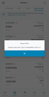 Cara Membatalkan/Cancel Order Beli atau Order Jual di Indodax