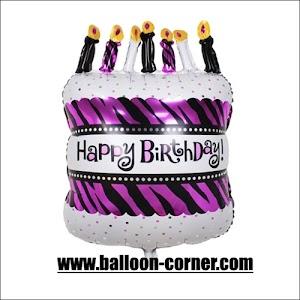 Balon Foil Happy Birthday Cake Medium
