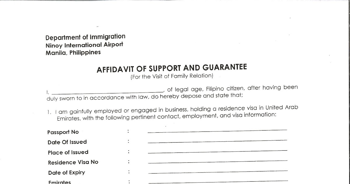 Affidavit Of Support Uae Image Gallery - Hcpr