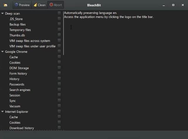افضل برنامج تسريع ويندوز 10 BleachBit