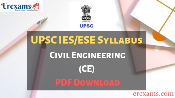 IES Syllabus Civil Engineering PDF