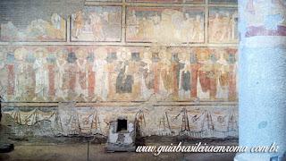 Santa Maria Antiqua afrescos Guia Roma Portugues - Igreja de Santa Maria Antiqua no Foro Romano