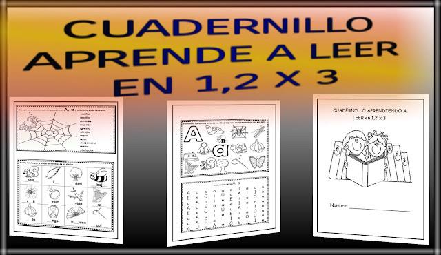 CUADERNILLO-APRENDE A LEER EN 1,2 X 3