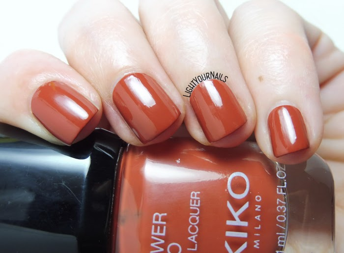 Smalto color caramello Kiko Power Pro 117 Brick On Trend caramel creme nail polish #kikonails #kikocosmetics #kikotrendsetter #lightyournails