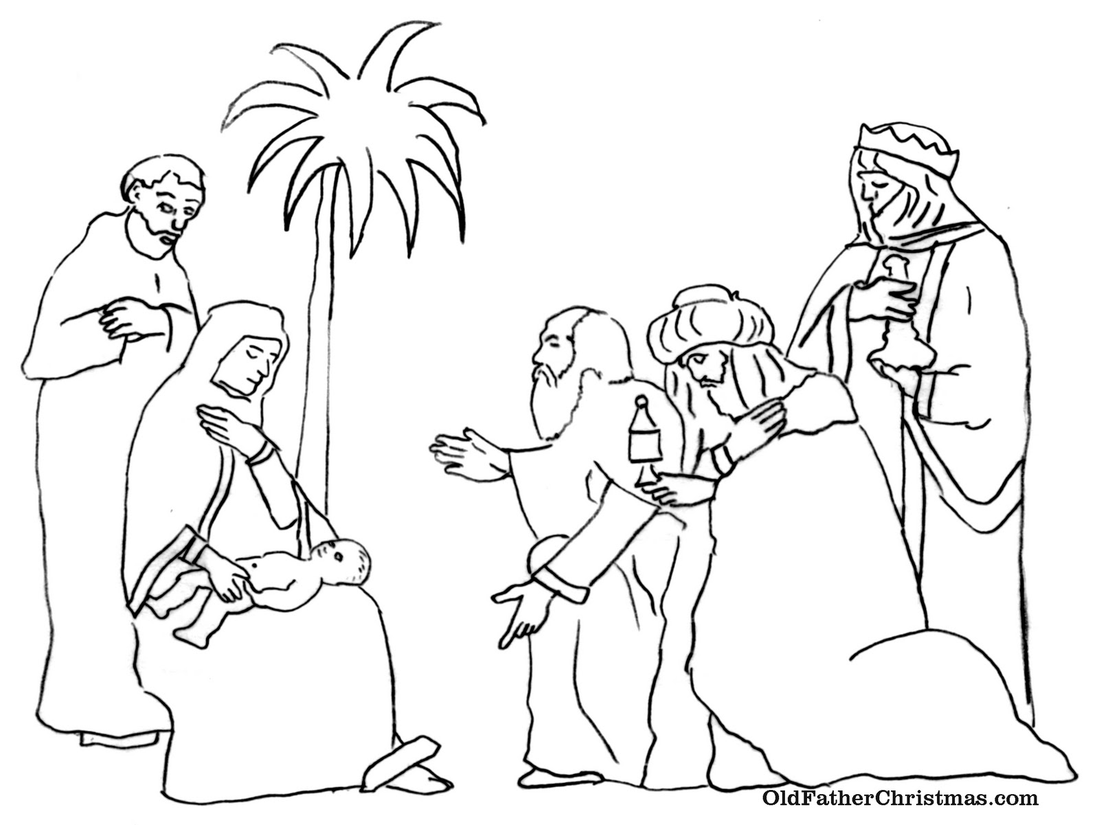 the three kings coloring pages - photo#5