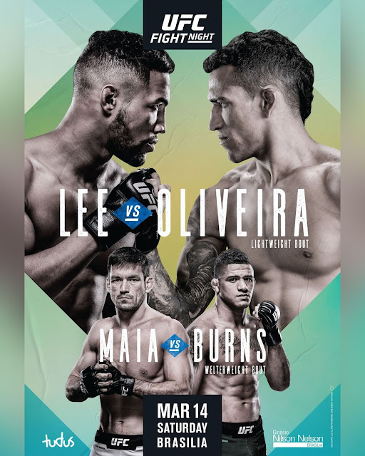 UFC ON ESPN+ 28 - Kevin Lee Vs Charles Oliveira Poster