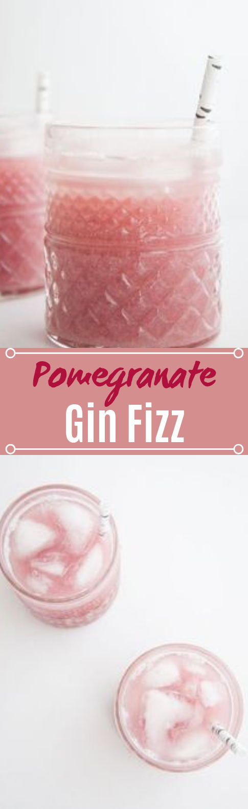 Pomegranate Gin Fizz #drinks #cocktails