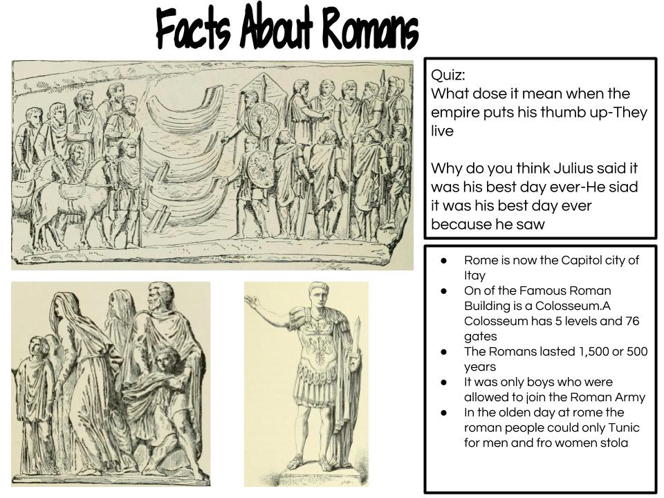 Angela @ Panmure Bridge School: Facts about Romans