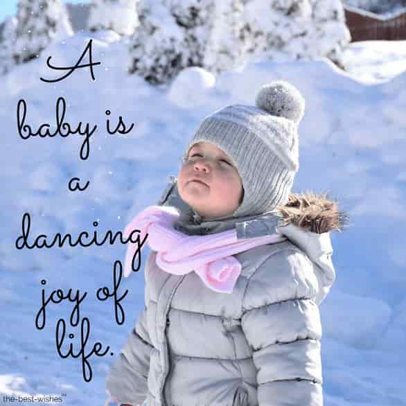 a baby is a dancing joy of life