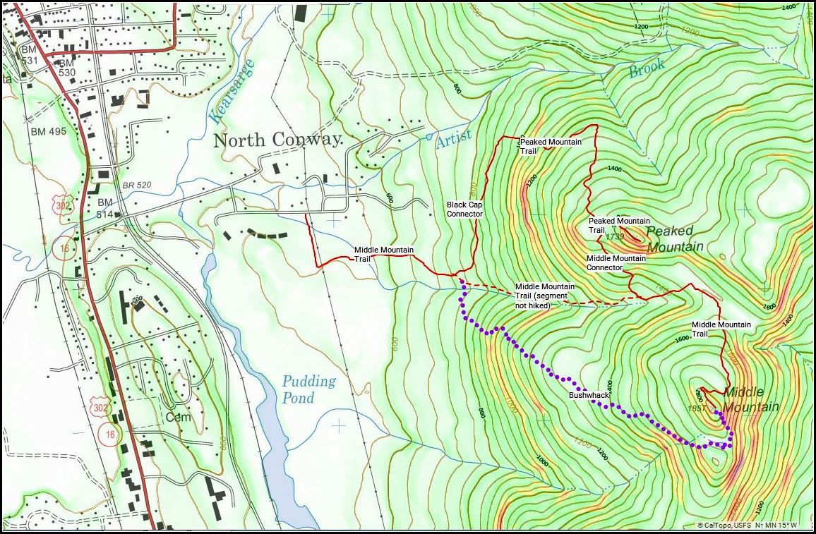 presidential range trail map pdf