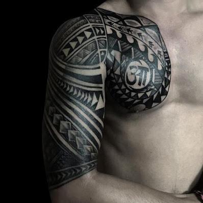 tribal polynesian tattoo