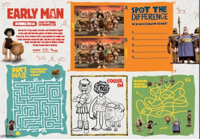 Early Man activity sheet to download for free
