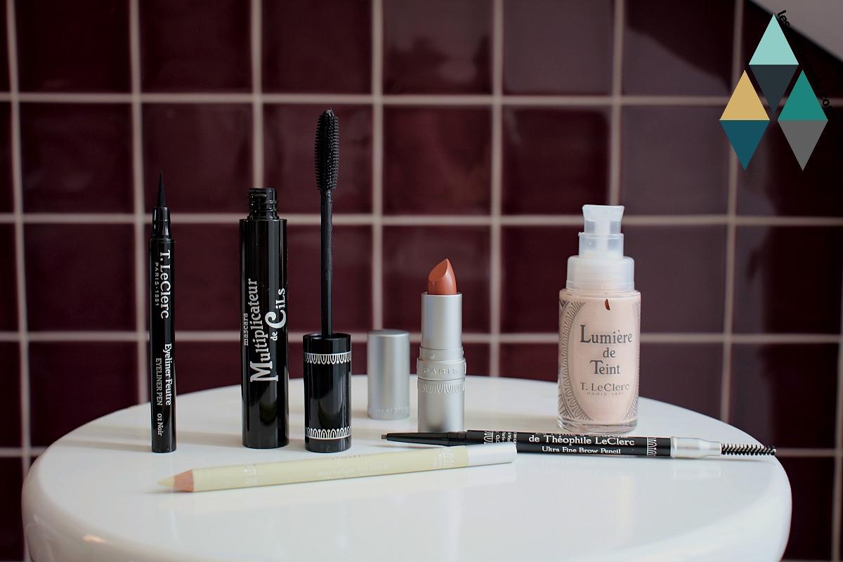 avis et test routine makeup t.leclerc