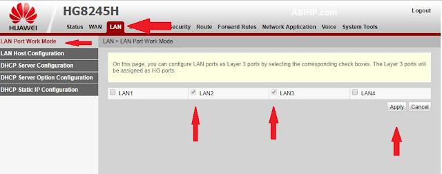 LAN Port Work Mode