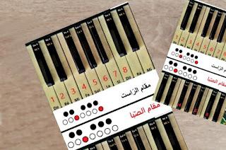 صور توضيحية للمقامات العربية الاساسية و كيفية عزفها على الكيبورد