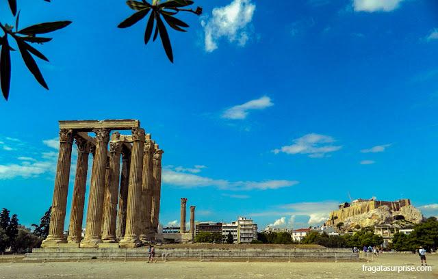 Acrópole de Atenas vista do Templo de Zeus Olímpico