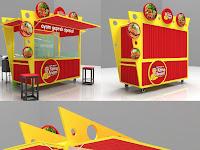 Gerobak ayam Geprek - Booth ayam geprek unik-Jasa pembuatan gerobak ayam geprek