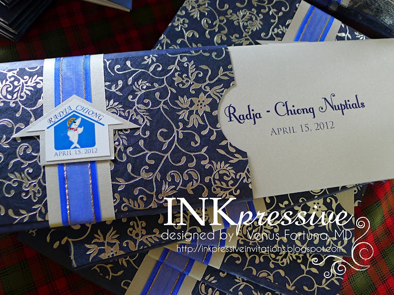 Wedding Invitations Royal Blue And Silver: Radja - Royal Blue And Silver Wedding Motif