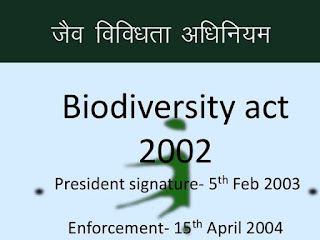 जैव विविधता अधिनियम 2002