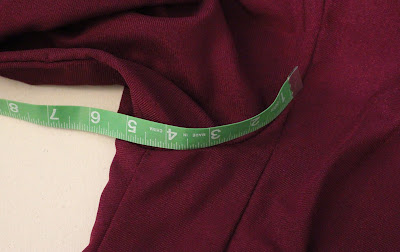 TNG season 1 admiral jacket - lower back armscye