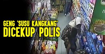 Geng 'susu kangkang' dicekup polis