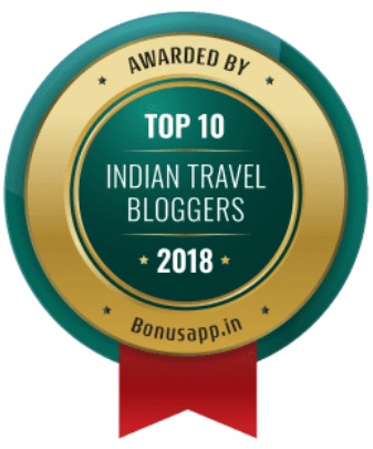 Badge for Top 10 Indian Travel Bloggers – 2018