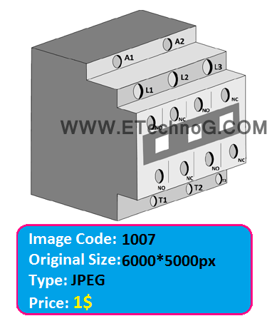 electrical contactor illustration image, contactor diagram, contactor image, contactor photos